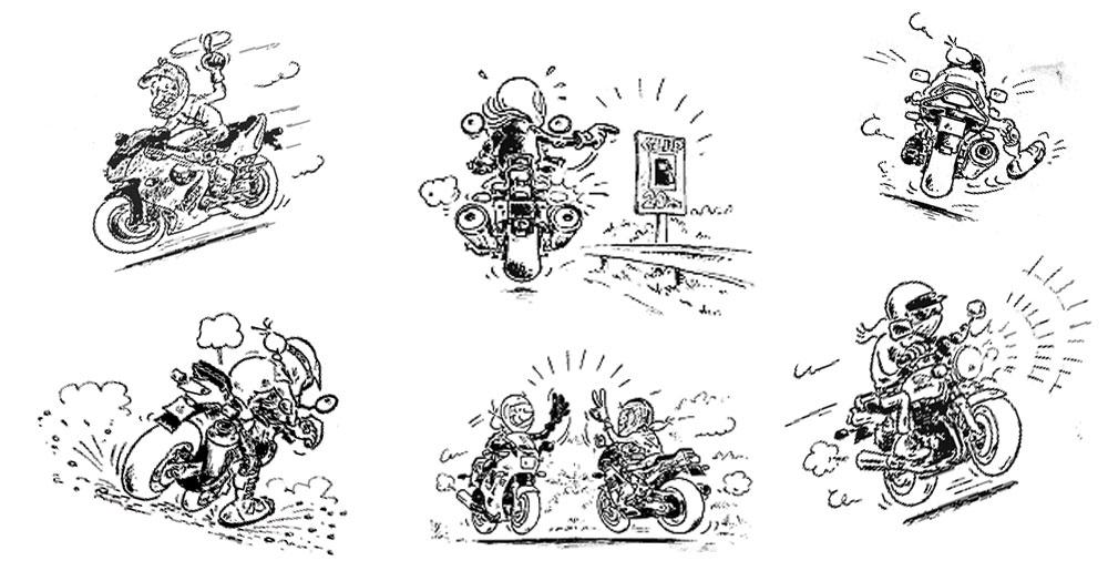Saluturi intre motociclisti