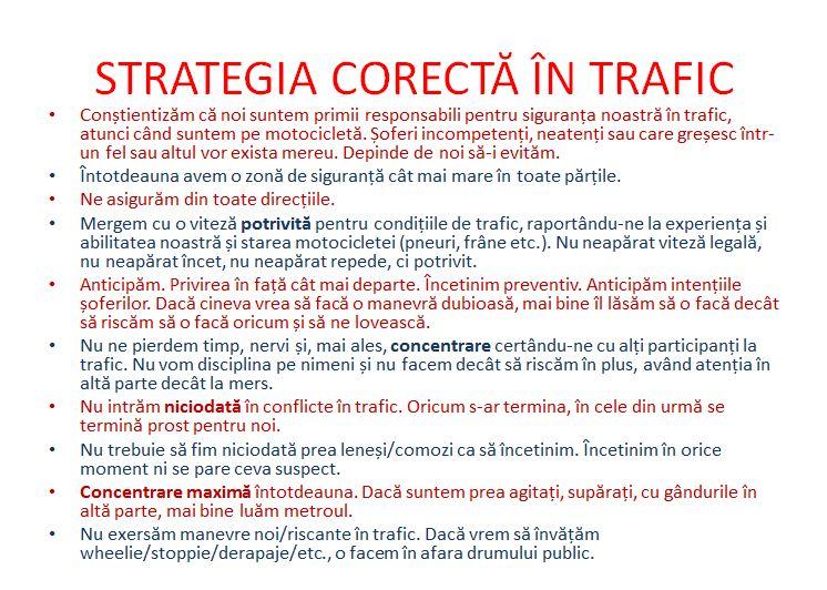 Curs teoretic moto - Siguranta in trafic