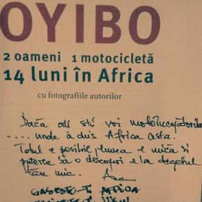 Moto Incepatori la lansare de carte Oyibo