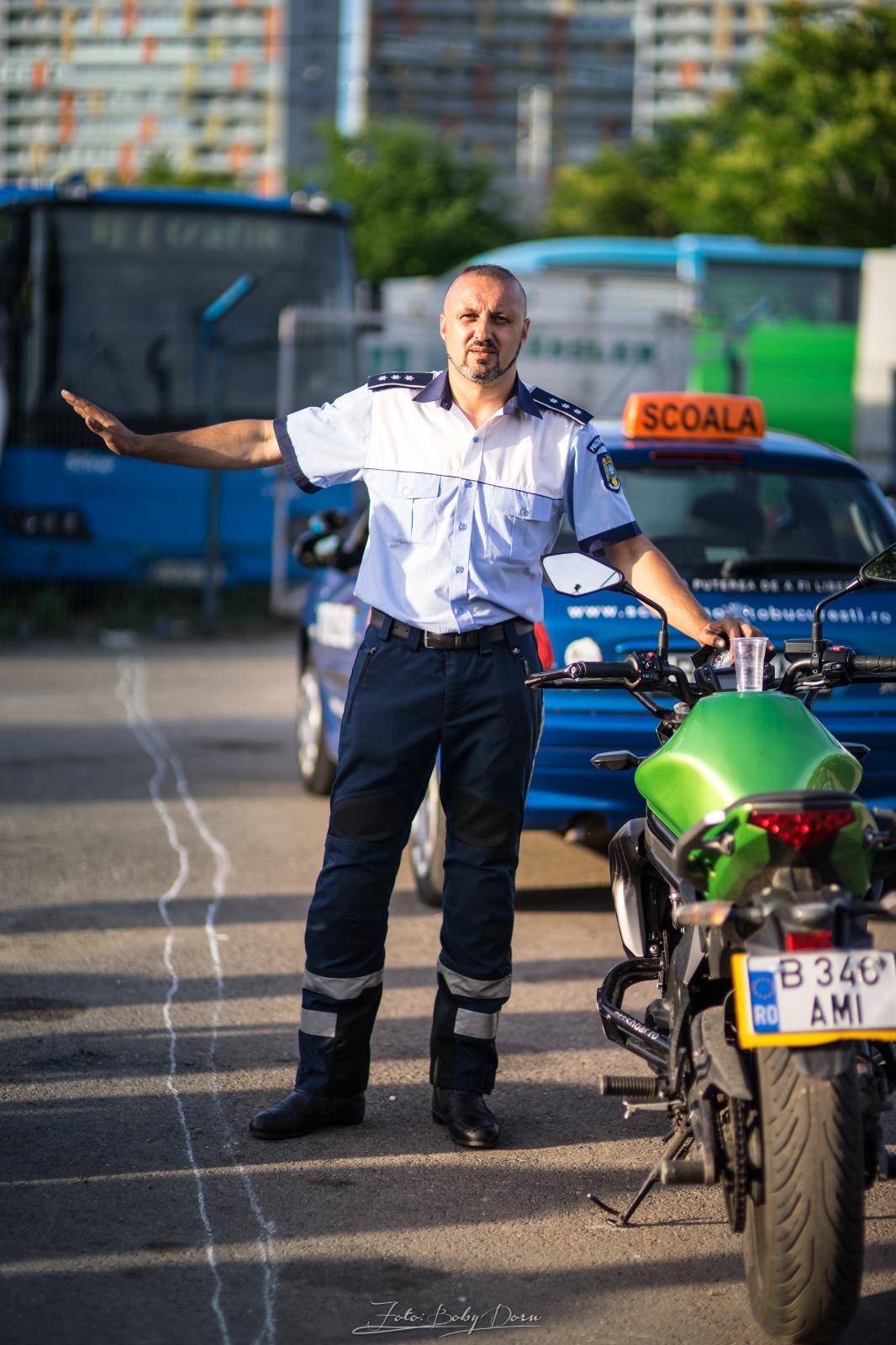 curs moto incepatori Brigada de Politie Rutiera Bucuresti